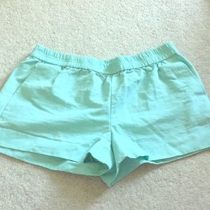Pull-On Retail J. Crew Aqua Shorts, Summer 2015